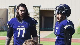 Hilarity Ensued When Steven Adams And Andre Roberson Moonlighted As High School Football Players