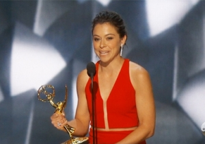Tatiana Maslany Finally Won A Best Actress Emmy For Her Clone Work On 'Orphan Black'
