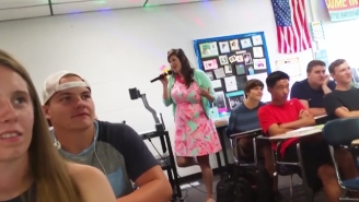 Can You Handle All Eight Minutes Of This Teacher's Cringey First Day Of School Medley? [Updated]