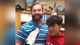 One Really Thoughtful High School Student Blesses His Teacher With His Holy Grail Air Jordans