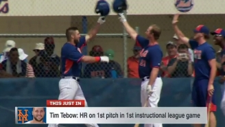 Of Course Tim Tebow Mashed A Home Run In His First Mets Minor League At-Bat