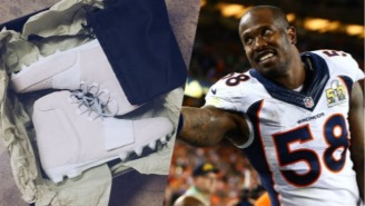 Von Miller Will Take The Field On Thursday Night In A Pair Of Exclusive Yeezy Cleats