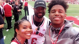 Dwyane Wade And Gabrielle Union Hung Out With Nebraska Football Recruits On The Sideline
