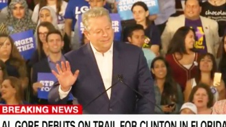 An Emotional Al Gore Tells Hillary Clinton Supporters In Florida That Their Vote 'Really Counts'