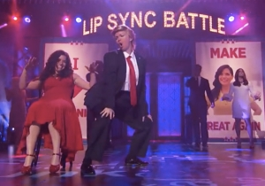 Amber Tamblyn Channels Donald Trump To Perform Color Me Badd In This 'Lip Sync Battle' Preview