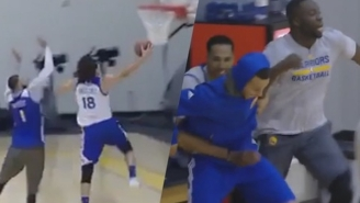 When Andy Varejao Dunked On JaVale McGee In Practice, Steph And Draymond Went Ballistic