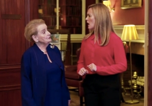 Samantha Bee And Fellow 'Nasty Woman' Madeleine Albright Discuss Why Men Are So Afraid Of Women