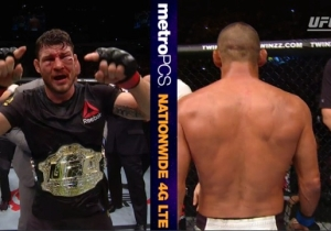 Michael Bisping Barely Defeats The Retiring Dan Henderson In A Bloody, Wild Brawl