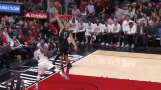 Blake Griffin Went Way Up To Send This Maurice Harkless Layup Into The Stands