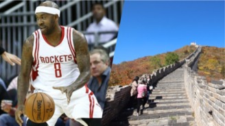 A Rockets Player Immediately Regretted Tagging Graffiti On The Great Wall Of China