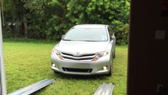 These People Had An Inventive Way Of Keeping Their Car Safe During Hurricane Matthew