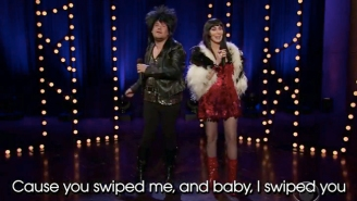 James Corden And Cher Sing 'I Got You Babe' With Updated Lyrics About Tinder And Snapchat