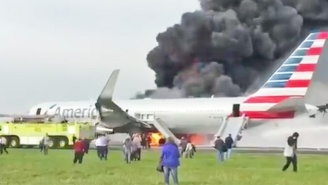 A Plane Catches Fire at Chicago's O'Hare International Airport, Causing Multiple Injuries