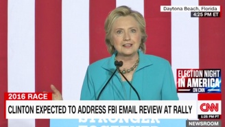 Clinton Slams FBI Director Comey's 'Unprecedented And Deeply Troubling' Timing Of Looking Into Her Emails