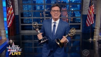 Stephen Colbert Finds A Way To Rub Trump's Nose In His 'Rigged' Emmy Loss