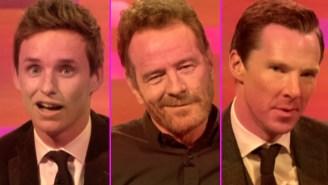 Bryan Cranston's Video Dating Past Inspires Dashing Imitations By Eddie Redmayne And Benedict Cumberbatch
