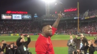 David Ortiz Said Goodbye To Red Sox Fans After The Indians Sent Him Into Retirement