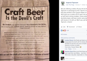 This Church's Attempt To Portray Craft Beer As 'The Devil's Craft' Backfired In The Best Way