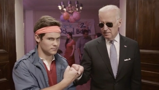 Vice President Joe Biden And Adam Devine Go Undercover At A Frat House… For A Good Reason