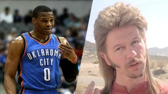 Russell Westbrook Absolutely Nailed The Joe Dirt Costume That He Wore For Halloween