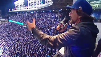 Watch Eddie Vedder's Rousing Version Of 'Take Me Out To The Ballgame' From Sunday's Cubs/Indians Game