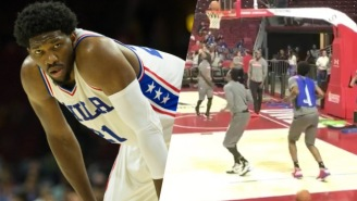 Joel Embiid Stopped Practice To Throw Down An Impeccable 'Juju On That Beat' Before A Windmill Dunk
