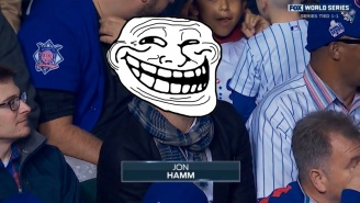 Jon Hamm Pulled An Awesome Real-Life, In-Person Troll Job On The Cubs And Their Fans Last Night