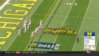 Michigan Went With A Startling Goal Line Formation To Close Out A Quarter Against Wisconsin