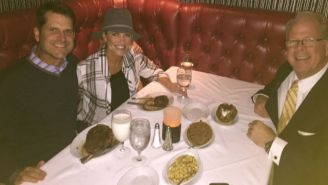 Jim Harbaugh Enjoyed A Glass Of Milk With His Heavily Discounted Steak At Ruth's Chris