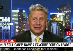 Gary Johnson Now Says That It's Best If A President Knows Nothing About Foreign Countries And Leaders