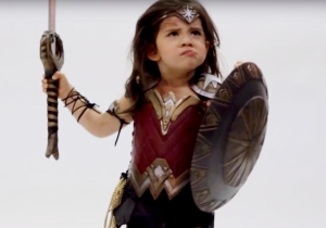 This 3-year-old Wonder Woman has all the ferocity of the Amazons