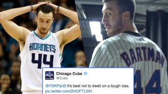 Frank Kaminsky Got Burned So Bad By The Chicago Cubs After Wearing A Steve Bartman Jersey