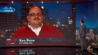 Ken Bone Extends His Fifteen Minutes Of Fame A Little Longer On 'Jimmy Kimmel Live'