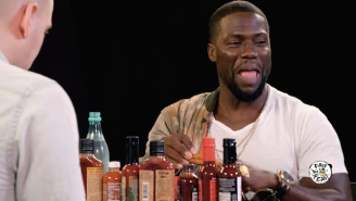Kevin Hart Risks His Most Valuable Asset And Eats Some Insanely Hot Wings