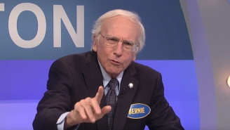 Larry David Returns To 'SNL' As Bernie Sanders To Take On Team Trump On 'Celebrity Family Feud'