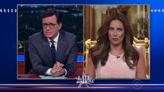 Laura Benanti's Uncanny Melania Trump Swung By 'Colbert' Once Again And It Was Awesome