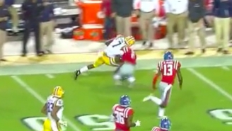 Leonard Fournette Trucked A Poor Defender Straight Through The Center Of The Earth