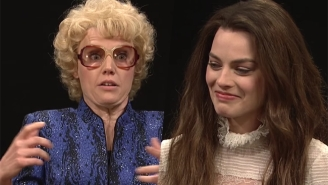 Margot Robbie Can Barely Keep It Together Opposite Kate McKinnon's Faded Hollywood Actress On 'SNL'