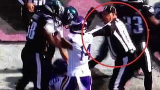 A Referee Stepped Over The Line By Shoving Vikings WR Stefon Diggs
