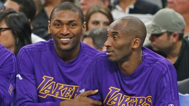 Metta World Peace, Kobe Bryant