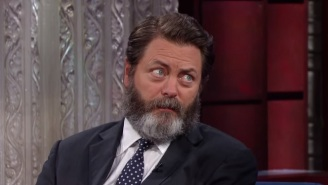 Nick Offerman Keeps His Big, Fluffy Beard Because It's 'As Mother Nature Intended'