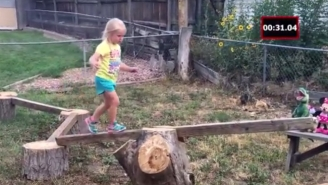The World's Best Dad Built His Daughter An Amazing Backyard 'American Ninja Warrior' Course