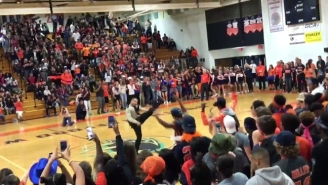 This Year's Real American Hero Is A Police Officer Slaying The 'Formation' Dance At A Pep Rally