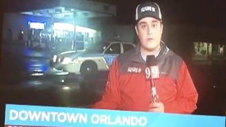 Watch This Reporter Accidentally Shame A Police Officer For Driving In Hurricane Matthew