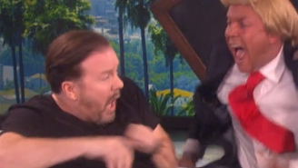 Ricky Gervais Gets The Bejesus Scared Out Of Him Thanks To Ellen And Donald Trump