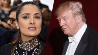 Salma Hayek Suggests Trump Planted A Fake Tabloid Story About Her Because She Wouldn't Date Him