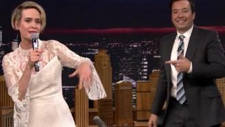 Sarah Paulson Is Surprisingly Great At Rapping Salt-N-Pepa's 'Shoop' On Jimmy Fallon