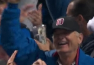 Bill Murray Had The Time Of His Life At Friday Night's Cubs Game