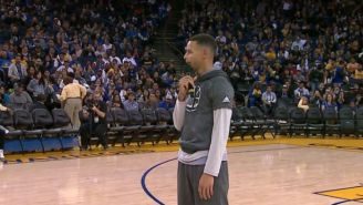 The Warriors Held An Open Practice Which Included A Hilarious Karaoke Contest