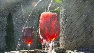 You Can Get Free Wine From A Fountain 24/7, And All Is Right With The World